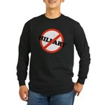 No Hillary Long Sleeve Dark T-Shirt