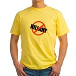 Anti Hillary Yellow T-Shirt
