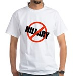 Anti Hillary White T-Shirt