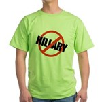 Anti Hillary Green T-Shirt