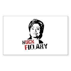 Anti-Hillary: Huck Fillary Rectangle Sticker