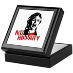 No Hillary / Anti-Hillary Keepsake Box