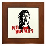 No Hillary / Anti-Hillary Framed Tile