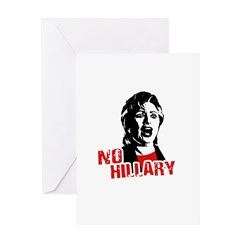 No Hillary / Anti-Hillary Greeting Card