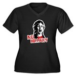 No Hillary / Anti-Hillary Women's Plus Size V-Neck