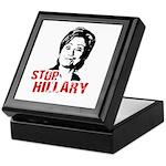Anti-Hillary: Stop Hillary Keepsake Box