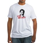 Anti-Hillary: Stop Hillary Fitted T-Shirt