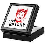 Anti-Hillary: Stop Billary Keepsake Box