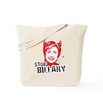 Anti-Hillary: Stop Billary Tote Bag