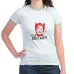 Anti-Hillary: Stop Billary Jr. Ringer T-Shirt