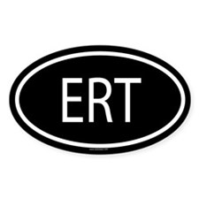 ERT Oval Decal