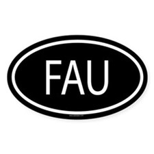 FAU Oval Decal