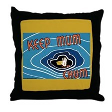 Mum, Chum  Throw Pillow