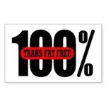 100 Percent Trans Fat Free Rectangle Sticker