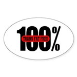 100 Percent Trans Fat Free Oval Sticker