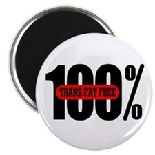 "100 Percent Trans Fat Free 2.25"" Magnet (100 pack)"