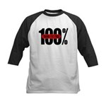 100 Percent Trans Fat Free Kids Baseball Jersey
