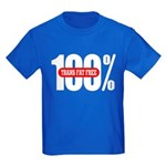 100 Percent Trans Fat Free Kids Dark Colored Tee