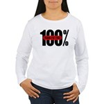 100 Percent Trans Fat Free Women's Long Sleeve T-S