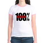 100 Percent Trans Fat Free Jr. Ringer T-Shirt