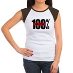 100 Percent Trans Fat Free Women's Cap Sleeve T-Sh