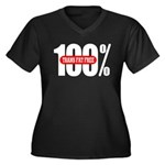 100 Percent Trans Fat Free Women's Plus Size V-Nec