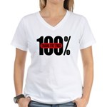 100 Percent Trans Fat Free Women's V-Neck T-Shirt