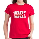 100 Percent Trans Fat Free Womens Dark Colored Tee