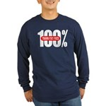 100 Percent Trans Fat Free Long Sleeve Dark T-Shir