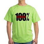 100 Percent Trans Fat Free Green T-Shirt