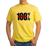 100 Percent Trans Fat Free Yellow T-Shirt