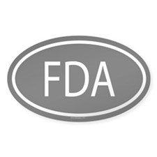 FDA Oval Decal