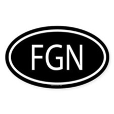 FGN Oval Decal
