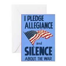 Pledge Silence  Greeting Cards (Pk of 10)