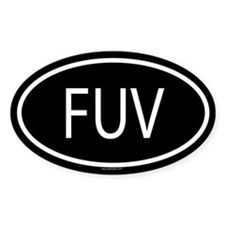 FUV Oval Decal