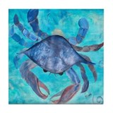 Blue Crab Tile Coaster