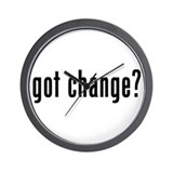 got change? Wall Clock