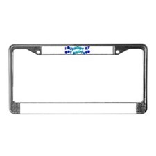 I Support My Gay Brother Blue License Plate Frame