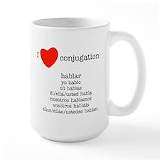 I love conjugation Mug