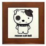 Spike Pit Bull Framed Tile