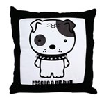 Spike Pit Bull Throw Pillow