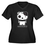 Spike Pit Bull Women's Plus Size V-Neck Dark T-Shi