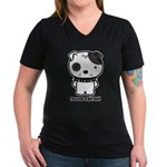 Spike Pit Bull Women's V-Neck Dark T-Shirt
