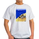 RAT TERRIER beach Design Ash Grey T-Shirt