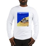 RAT TERRIER beach Design Long Sleeve T-Shirt
