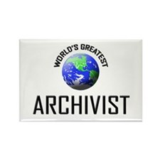 World's Greatest ARCHIVIST Rectangle Magnet (10 pa