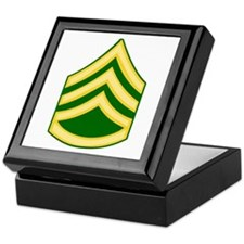 Cute National guard soldier Keepsake Box