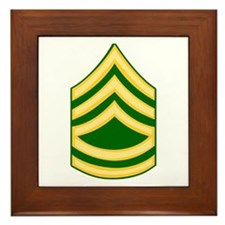 Cute National guard soldier Framed Tile