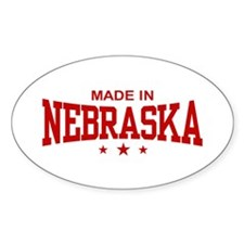 Made In Nebraska Oval Decal