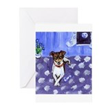 RAT TERRIER folk art design Greeting Cards (Packag